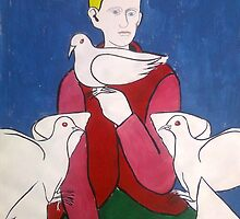 BOY WITH DOVES by spanglish
