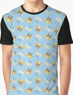 Komasan and Komajirou Pattern Graphic T-Shirt