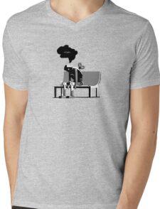 Automaton Blues Mens V-Neck T-Shirt