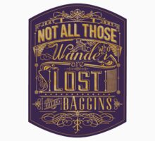 Tolkien Typography - STICKER (purple) by MiniMoose