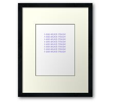 MUKE TRASH Framed Print