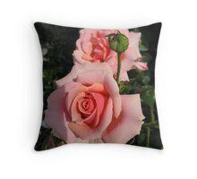 Pink reveal Throw Pillow