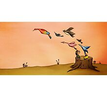 Birds (from 'The Girl with The Yellow Bag') Photographic Print