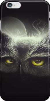Owl & The Moon by Lukas Brezak