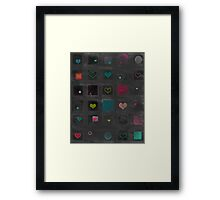 So many things to say on a rainy day... Framed Print