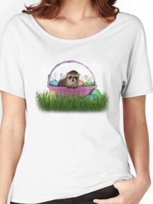 Easter Raccoon Women's Relaxed Fit T-Shirt