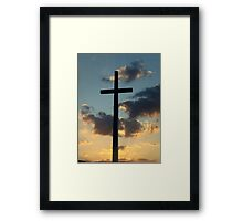 The Risen King - Cross at Sunset in Florida Framed Print