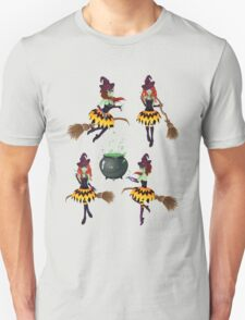 Dark Witch with Broom 3 T-Shirt