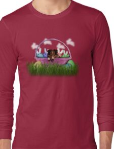 Easter Sheltie Puppy Long Sleeve T-Shirt