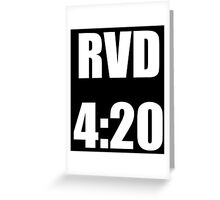 RVD 420 Greeting Card