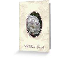Sympathy Card With Delicate White Flower Greeting Card