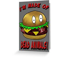 Meat Tastes Good.  Greeting Card