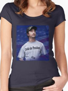 Tickle for President Women's Fitted Scoop T-Shirt