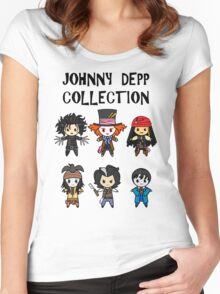 Depp Collection Women's Fitted Scoop T-Shirt