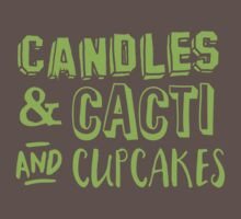 Candles and cacti and cupcakes One Piece - Short Sleeve