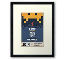 Join the Laser Canon Artillery Framed Print