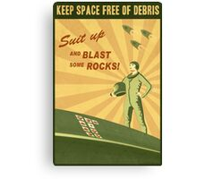 Keep Space Free of Debris Canvas Print