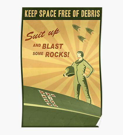 Keep Space Free of Debris Poster