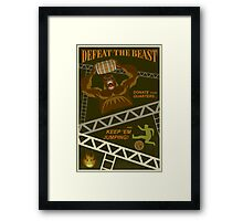 Defeat the Beast Framed Print