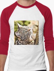 Wild nature - pussy #3 Men's Baseball ¾ T-Shirt