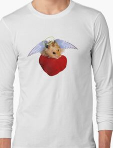 Angel Hamster with Heart Long Sleeve T-Shirt