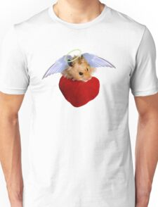 Angel Hamster with Heart Unisex T-Shirt