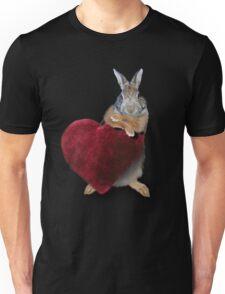 Bunny Rabbit with Heart Unisex T-Shirt