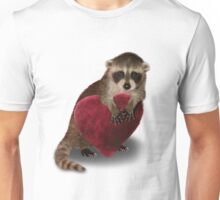 Raccoon with Heart Unisex T-Shirt