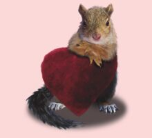 Squirrel with Heart Kids Clothes