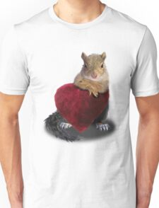 Squirrel with Heart Unisex T-Shirt