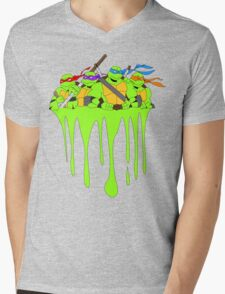 Teenage Mutant Ninja Turtles Ooz Drip Mens V-Neck T-Shirt