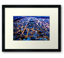 South Seattle at Twilight Framed Print