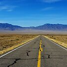 Highway through vast empty spaces by Claudio Del Luongo