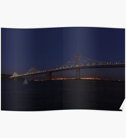 Patterns in the Night - The Bay Lights Poster