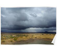 Approaching storm in the desert Poster