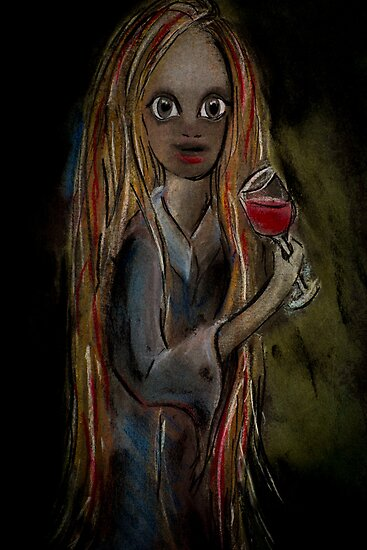 Girls drinking wine by robyn70