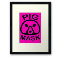Pigmask (Black) Framed Print
