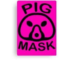 Pigmask (Black) Canvas Print