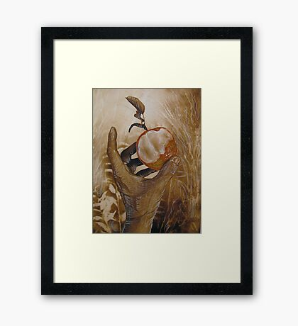 with this bite I thee . . . .  Framed Print