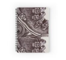 Leather, buckles and a Tin Can Spiral Notebook