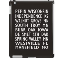 Laura Ingalls Wilder Homes - Train Scroll - iPad Case - Black iPad Case/Skin