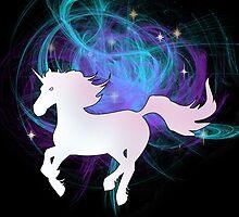 Galaxy Unicorn by CatAstrophe
