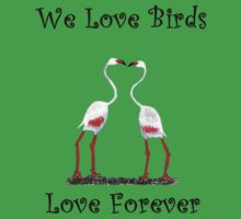 Birds In Love T shirt Special  Kids Tee