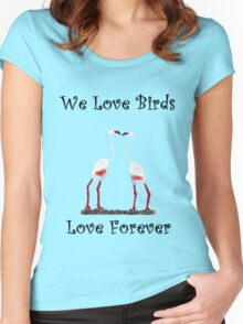 Birds In Love T shirt Special  Women's Fitted Scoop T-Shirt