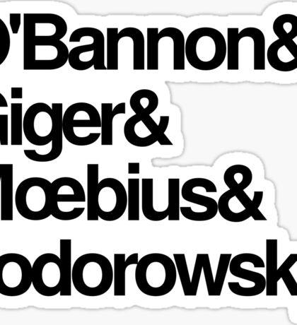 Jodorowsky's Dune - O'Bannon, Giger, Moebius and Jodorowski Sticker
