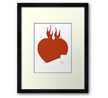 Tattoo heart Framed Print