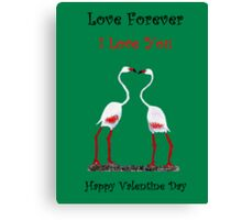 Bird In Love Valentine Day Special Canvas Print