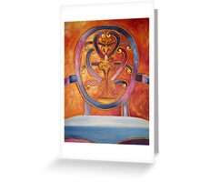 Chair on Fire Greeting Card