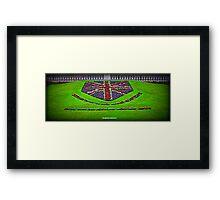 Union Jack Flowers Framed Print