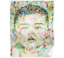 CHILD - watercolor portrait Poster